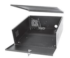 """DVR lockbox 21"""" W x 24"""" L x 8"""" H Super Strong 16 Gauge Steel with Cooling Fan"""