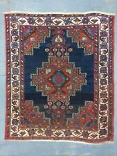 Antique Hand Knotted Old Used Persian Afshar Small Rug, Wool,Size:124cm By 107cm
