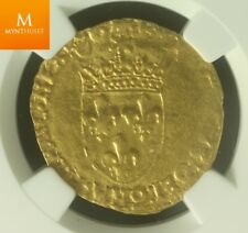 1515-47 France Ecu or FR-345 Francois I AU50