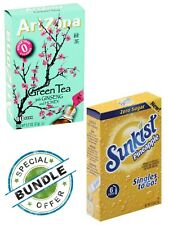 Arizona Green Tea & Sunkist Pineapple Drink Mix SUGAR FREE HEALTHY 2 BOXES