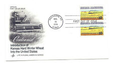 1506 Rural America  Kansas Winter Wheat + Train ArtCraft pair FDC