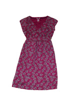 WHITE STUFF FUSCIA ABSTRACT PATTERN LINED SHIFT TEA DRESS SIZE 8 10 UK