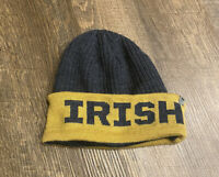 NOTRE DAME FIGHTING IRISH KNIT BEANIE CAP HAT BLUE GOLD OSFA TOP OF THE WORLD
