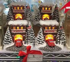 2019 Thomas Kinkade Festive Fire Station Light-up Christmas Keepsake Village-New