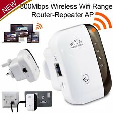 Wifi Repeater Wireless Extender Router Signal Booster WPS UK Plug PC Internet