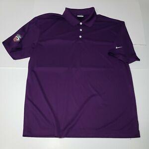 Nike Golf Dri-Fit Loren Cook Company Men's X-Large XL Polo Shirt Purple Casual