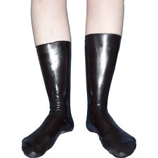 rabenschwarze Latexsocken hoch* Gr. 39-42 * rubber Gummi Füßlinge Strümpfe Socks