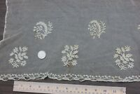 Wonderful French Antique Early 19thC Hand Applique On Net Lace~Dolls,Bridal