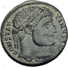 CONSTANTINE I the Great 324AD Authentic Ancient Roman Coin CAMP GATE  i65145