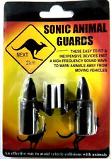 ANIMAL REPELLER SONIC SHOO THE ROO AWAY EMIT SOUND WAVE WARNING PAIR BLACK #AR01