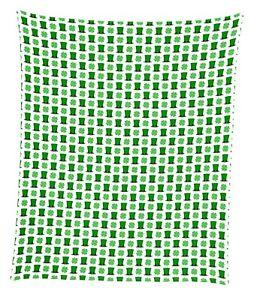 "St. Patrick's Day Top Hats & Shamrocks Mircofleece Throw Blanket 50""x60"""