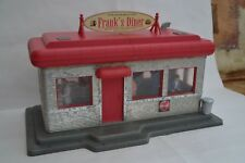 G Scale Customised Piko Downtown Diner 62250 with figures