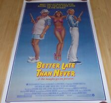 BETTER LATE THEN NEVER(1983)DAVID NIVEN/ART CARNEY/MAGGIE SMITH ORIGINAL 30 X 40