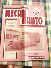 Revue mecanauto de 1957  N° 38   les utilitaires peugeot