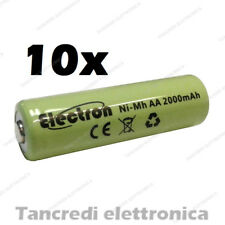 10 BATTERIA AA Stilo 2000 mAh Rechargeable Accu Mignon Ready 2 use pila nimh 2Ah
