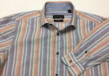 Kenneth Roberts Platinum Slim Fit Men's Casual Shirt Large Multi-Colored,,Sharp!