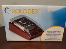 Rolodex Woodtones Vcard Covered Tray Mahogany New In Box