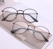 Vintage Oval Eyeglass Frame Man Women Clear Full Rim Plain Glass Spectacles