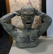 Animated Halloween Zombie Life Size Figure  Ripping Head Off Sound Activated