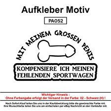 GROSSEN PENIS - Autoaufkleber Aufkleber Fun Spaß Sticker Lustige Sprüche