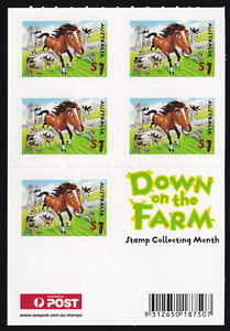 2005 Down on the Farm Booklet. 5x$1 Horse S/A UNFOLDED MINT