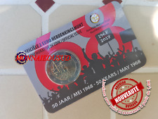 2 Euro CC Coincard BU Belgique 2018-Révolte Etudiante Mai 1968 Version Flamande