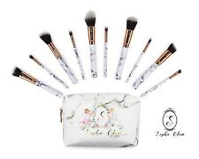 Marble and rose Gold Makeup bag Plus 10 Pcs Matching Makeup brushes.Free Ship.