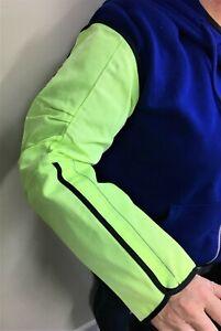 Ansell HyFlex 11-200 Cut-Resistant Sleeve, Hi-Vis Yellow/Green