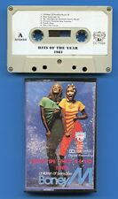 K7 Audio - Hits of the year - Compilation 1981 - Boney M - Pointer Sister...
