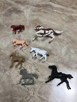 Vintage Lot Toy Plastic Horses Western Pony