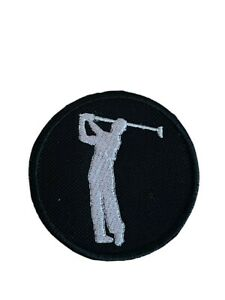 Golf Player Silhouette Embroidered Sew / Iron on Patch (A)