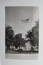 e100 vintage postcard RPPC Wisconsin WI old Glory 48 star flag Cambridge Wis USA