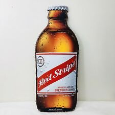 "Red Stripe Beer Bottle Tin Sign 24"" x 9"" Jamaica Tiki Bar Pub Man Cave"