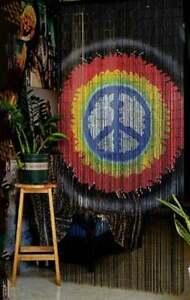 Peace Beaded Curtain, Beaded Door Curtain, Bamboo Beaded Curtains for Doorways