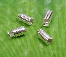 50Pcs Silver plated metal spring coil end crimp spacer beads fit 1.5mm cord