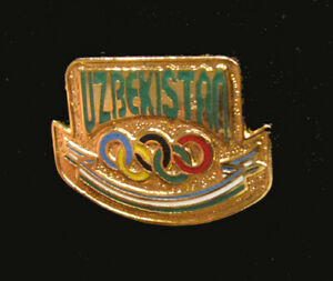 Nagano Japan 1998 UZBEKISTAN Rare Winter Olympic NOC Team jewelry style pin