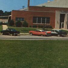 Ford Chevrolet 1950's Car Scene Anderson South Carolina Postcard
