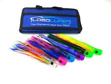 Lobo Lures 6 UV Skipjack AHI Lure Pack Mahi Tuna Sailfish Marlin & Storage Bag 1