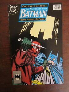 """Batman #435 - """"Many Deaths of..."""" - Byrne story, Aparo art"""