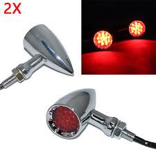 Red Chrome Motorcycle Led Turn Signals Indicators Lights Brake Tail Light Bullet(Fits: Mastiff)