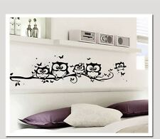 wall stickers owl branch boarders cute kids room vinyl decal decor Nursery