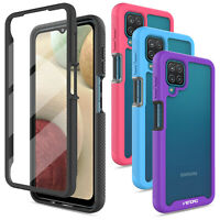 For Samsung Galaxy A12 Phone Case Shockproof Cover W/ Built-in Screen Protector