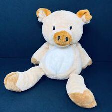 Ty Pluffies Corkscrew Pig Plush Orange Peach Tylux 2002 Sewn Eyes Baby Stuffed