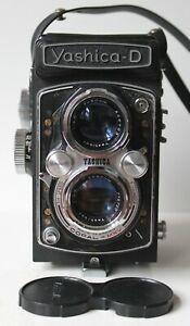 Yashica D TLR w/Yashikor 80mm 3.5 Lens + Strap & Lens Cap