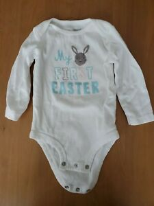 """NEW Carter/'s JOY 12 Months Baby Boy /""""MY FIRST EASTER/"""" Bodysuit /& Pant~Blue--NWT"""