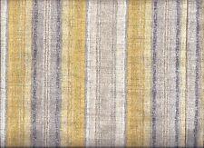 Gold Grey Stripe curtain valance