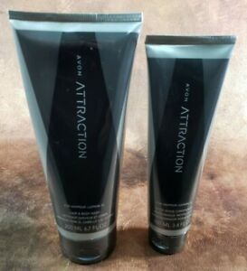 Avon Attraction For Him 2 Pc Set Hair & Body Wash Aftershave Conditioner NEW