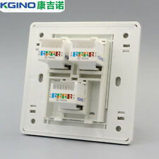 Wall Socket Plate Kgino 3 port Network CAT5e RJ45 Socket Panel Faceplate
