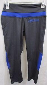 Kansas Jayhawks Women Small Spandex Yoga Pants Capri NCAA Navy Blue Size S-XL