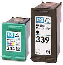 Refilled HP 339 Black + HP 344 Colour Ink Cartridges Remanufactured Inkjet.